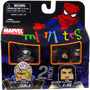 Marvel Minimates - Retro X-Force Cable and Modern X-Force X-23
