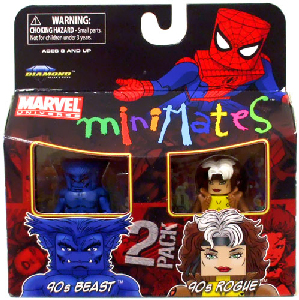 Marvel Minimates - 90s Beast and 90s Rogue