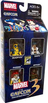 Marvel Minimates - SDCC 2011 Exclusive 4-Pack Marvel Vs Capcom 3 - Deadpool, Phoenix, Arthur, Dante