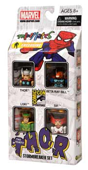 Marvel Minimates - SDCC 2011 Exclusive 4-Pack Stormbreaker - Thor, Beta Ray Bill, Loki, Sif