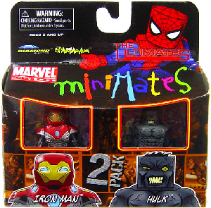 Marvel Minimates - Ultimate Iron Man and Ultimate Grey Hulk