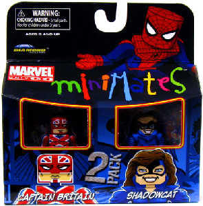 Marvel Minimates - Captain Britain and Shadowcat[Classic]