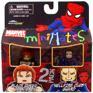 Marvel Minimates - Black Queen Jean Grey and Hellfire Club Guard
