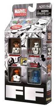 Marvel Minimates - SDCC 2011 Exclusive 4-Pack Future Foundation - Mr Fantastic, Spider-Man, Thing, Invisible Woman