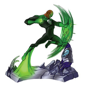 Green Lantern Resin Figurines