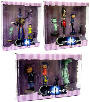 3-Inch Coraline PVC Set of 3[Other Mother, Mr. Bobinsky, The Ghost Kids, Wybie]