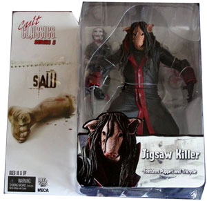 Jigsaw Pig Face Killer and Puppet Saw