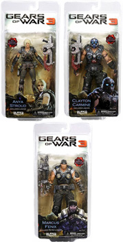 Gears Of War 3 - Series 1 Set of 3 (Marcus, Anya, Clayton)