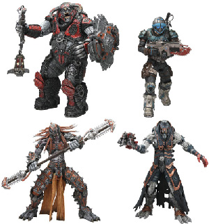 Gears of War - Series 6 Set of 4[Skorge, Kantus Priest, Boomer Mauler, COG Soldier]