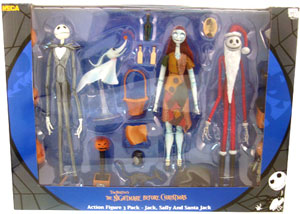 NBX - 3-Pack: Jack, Sally, and Santa Jack