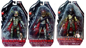 NECA Predators 2010 - Series 1 Set of 3