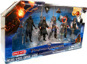 POTC - On Stranger Tides - 4-Inch 5-Pack Gunner, Blackbeard, Captain Barbosa, Jack Sparrow, Angelica