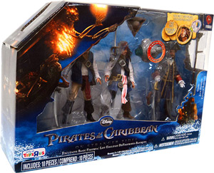 POTC - On Stranger Tides - 3-Pack Gibbs, Jack Sparrow, Captain Barbossa