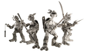Neca TMNT Black and White - Set of 4 Box set