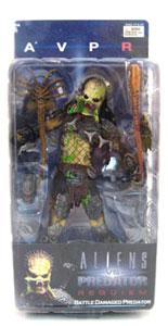 Alien Vs Predator Requiem - Battle Damaged UnMasked Predator