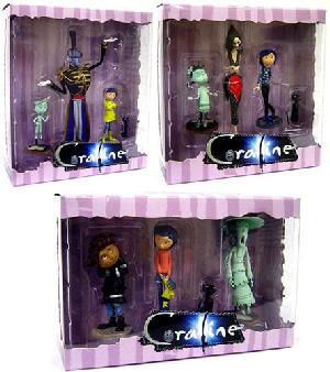 3-Inch Coraline PVC Set of 3[Other Mother, Mr. Bobinsky, The Ghost Kids, Wybie]