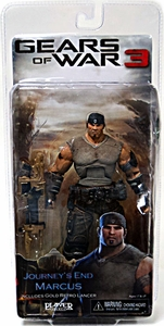 Gears Of war 3 - Journey End Marcus Fenix with Gold Retro Lancer
