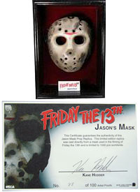Jason Voorhees Life-Size Mask Signed