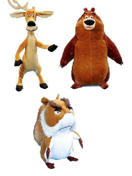 7-Inch Open Season Plush Set of 3