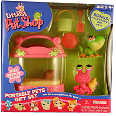 Littlest Pet Shop - Portable Pets - Hermit Crab and Frog Turtle