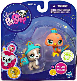 Littlest Pet Shop - 2-Pack - Peacock and Pitbull[1469,1463]