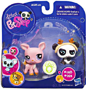 Littlest Pet Shop - 2-Pack - Deer and Panda Bear
