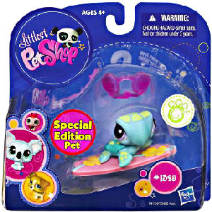 Littlest Pet Shop - Pet with Accessories - Special Edition Pet Sea Turtle with Surf Board