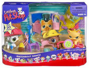 LITTLEST PET SHOP RACEABOUT RANCH playset