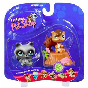 Littlest Pet Shop -  Chipmunk and Raccoon(195-196)