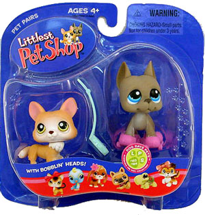 Littlest Pet Shop -  Corgi and Great Dane