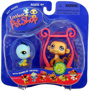 Littlest Pet Shop -  Bird and Monkey