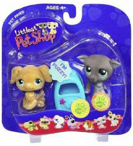 Littlest Pet Shop - Golden Retriever and Baby Great Dane