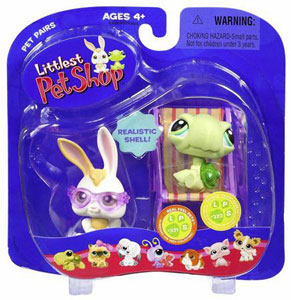Littlest Pet Shop - Bunny with Sunglasses and Baby Turle