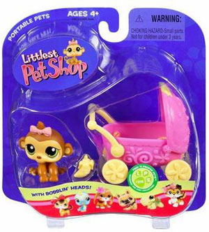 Littlest Pet Shop - Monkey with Stroller