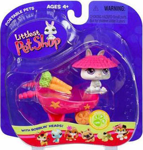Littlest Pet Shop - Bunny With Wheelbarrow