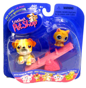 Littlest Pet Shop - Bulldog & Kitten