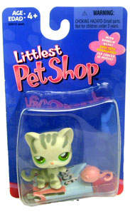 Littlest Pet Shop - Gray Striped Cat