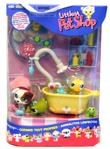 LITTLEST PET SHOP SQUEAKY CLEAN PETS Playpack