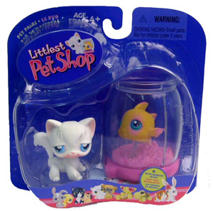 Littlest Pet Shop - Longhair Cat and Fish