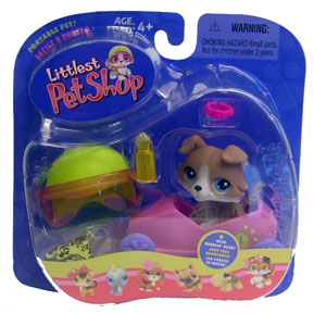 Littlest Pet Shop - Collie in Boxcar