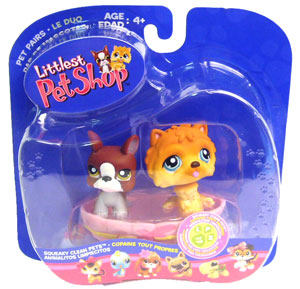 Littlest Pet Shop - Boxer and Chow-Chow