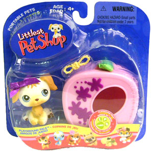 Littlest Pet Shop - Golden Retriever with Carrier