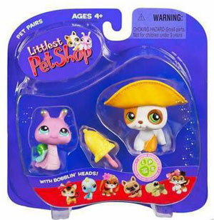 Littlest Pet Shop - Snail and Puppy with Hat