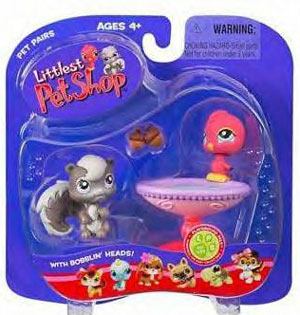 Littlest Pet Shop - Squirrel and Red Bird