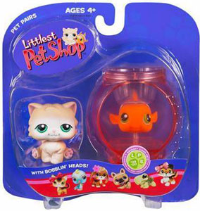 Littlest Pet Shop - Cat and Fish (129 - 130)
