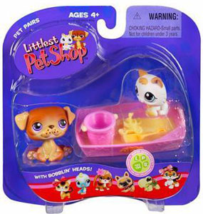 Littlest Pet Shop -  Dog, Cat and Sandbox(133 - 134)