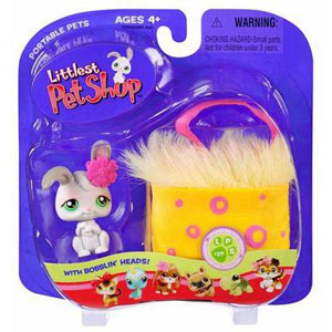 Littlest Pet Shop - Bunny in Yellow Basket
