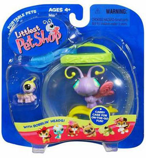 Littlest Pet Shop Butterfly and Caterpillar