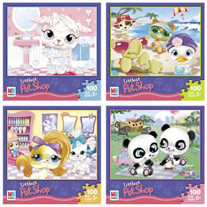 LITTLEST PET SHOP Puzzles 4 pack! 100 pieces