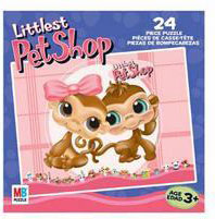 LITTLEST PET SHOP Puzzles 24 pieces - 2 Monkeys